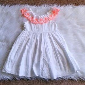 Oshkosh Neon Embroidered Dress Size 5T